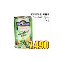 king's fisher sarden sambal hijau